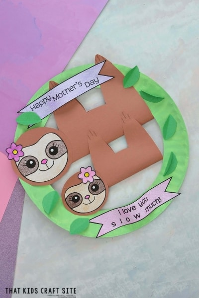 Paper Plate Sloth Craft