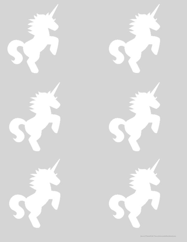 Small printable unicorn templates