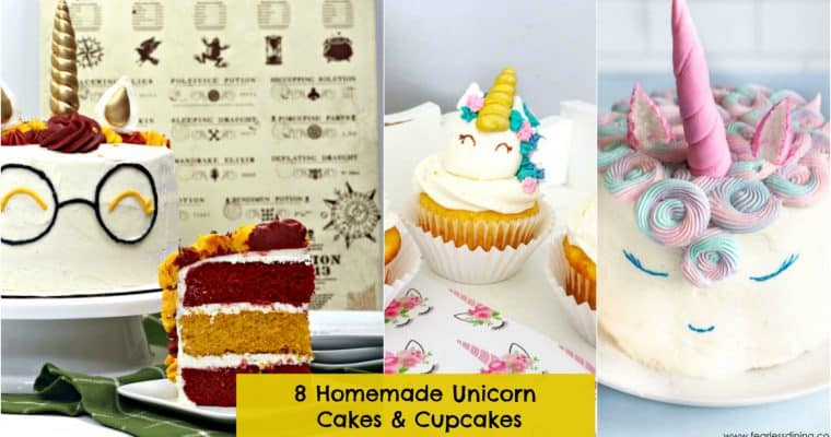 8 DIY Unicorn Cake & Cupcake Ideas for Birthday Parties
