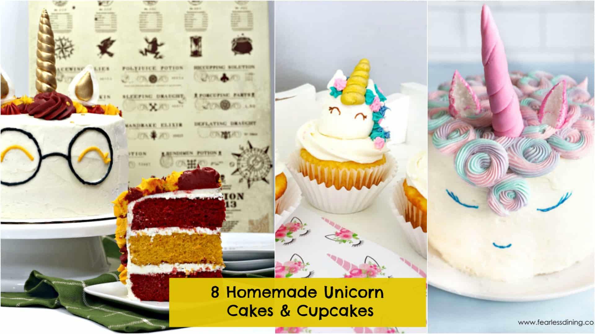 8 DIY Unicorn Cake & Cupcake Ideas for Birthday Parties