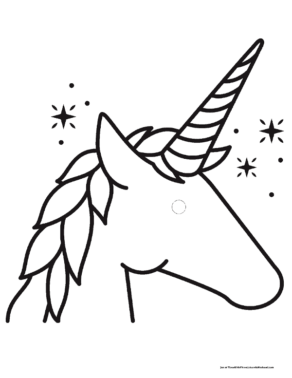 Free Printable Unicorn Head Templates