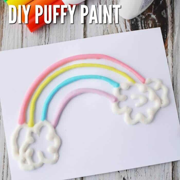 Puffy Paint with Shaving Cream and Glue