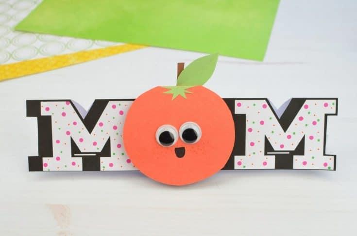 Googly Eyes Orange Mother's Day Card