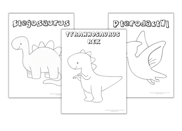 Free Printable Dinosaur Coloring Pages (with Names!)