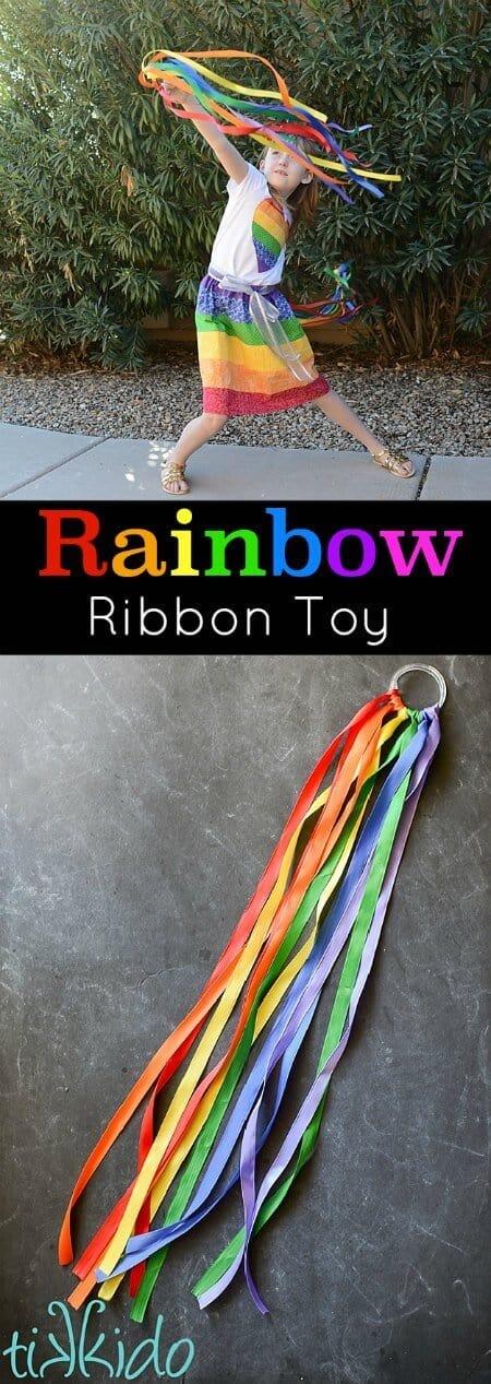 Easy Rainbow Ribbon Toy