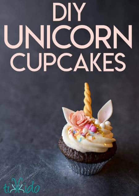 Unicorn Cupcakes with Gum Paste Roses and Edible Horns