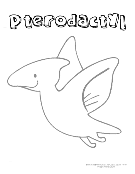 printable Pterodactyl coloring page