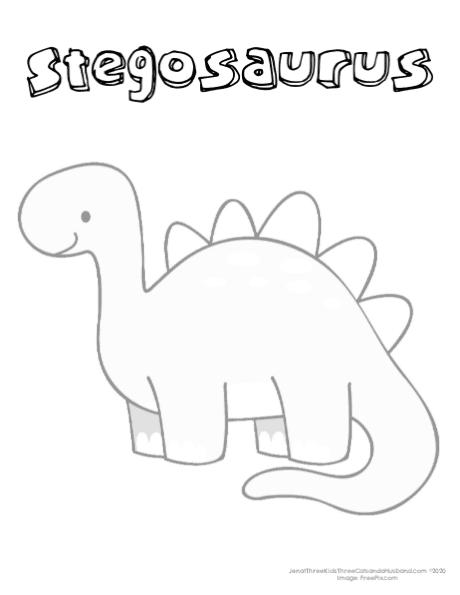 printable Stegosaurus Coloring Page