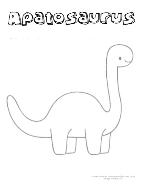 printable apotasaurus coloring page