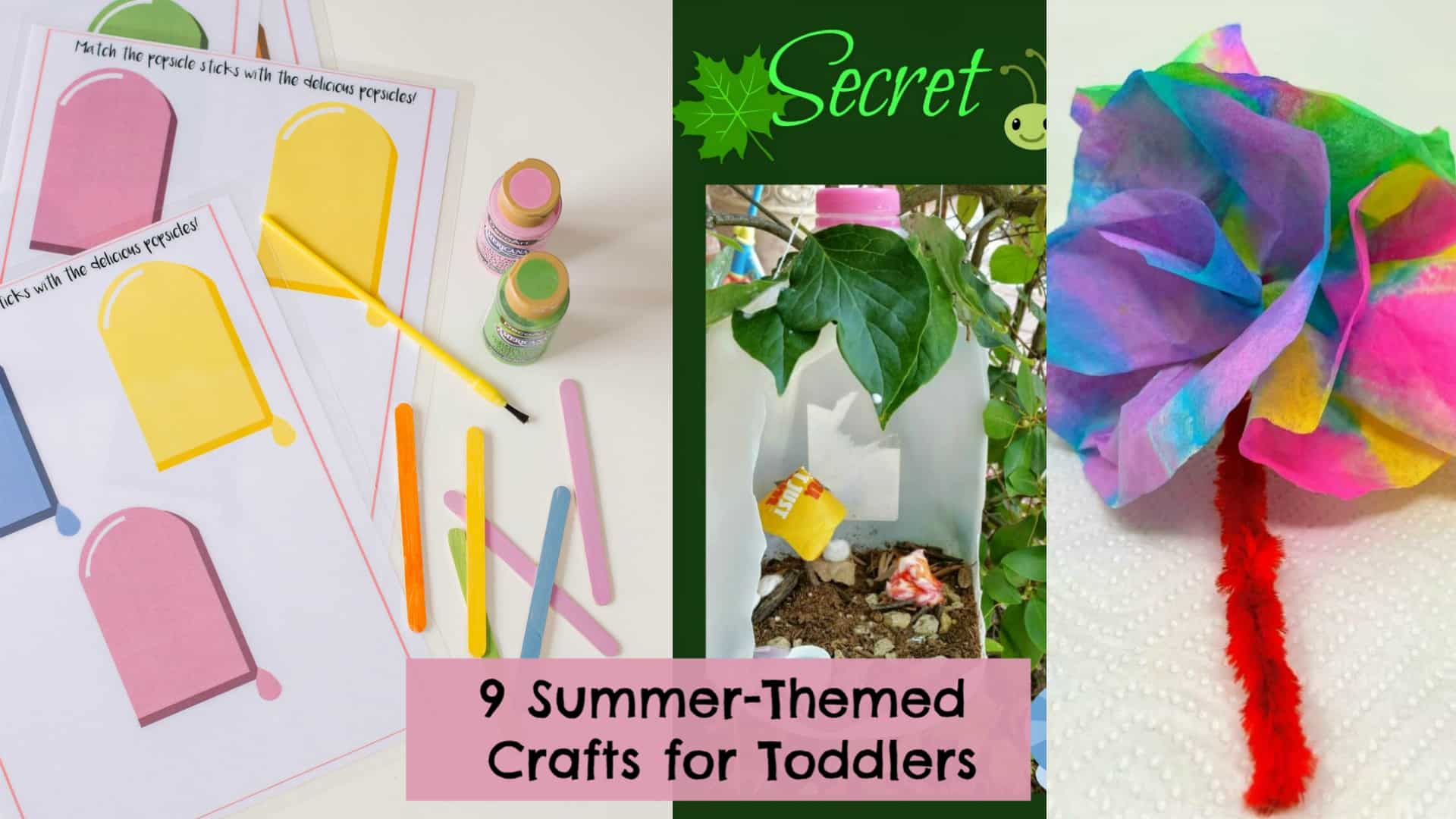 9 Summer Arts and Crafts for Toddlers: Paper Flowers, Sidewalk Paint, & More