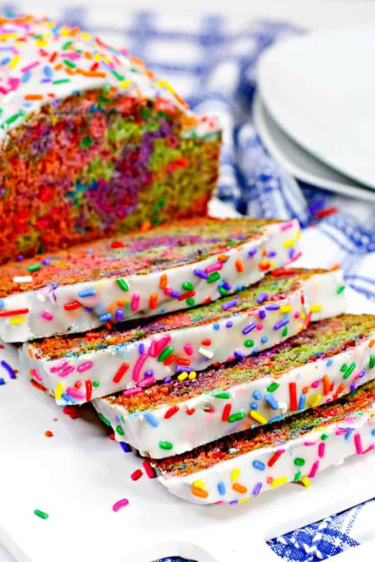 Unicorn Bread with Sprinkles