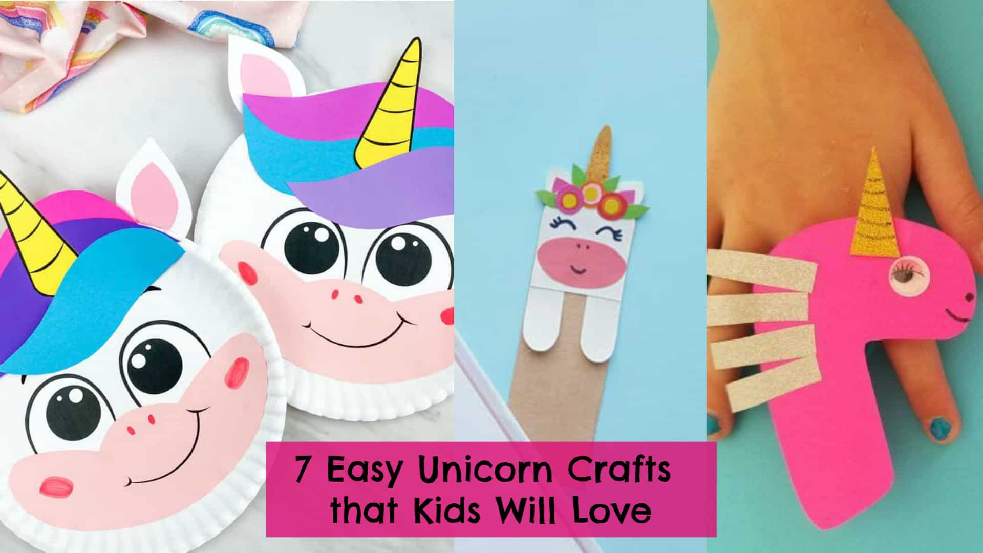Easy Unicorn Crafts & Art Projects for Kids