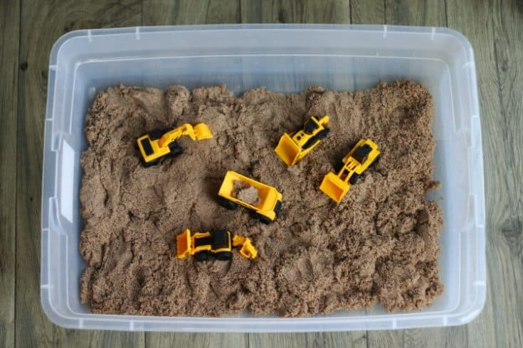No Mess Indoor Sandbox For Toddlers