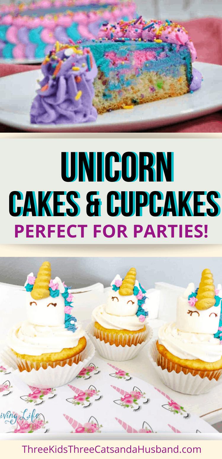 unicorn cakes and cupcakes