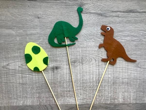 All 3 dinosaur puppets
