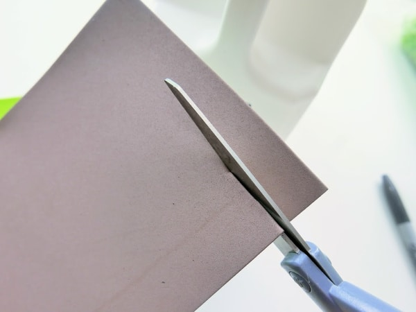 Cutting brown paper