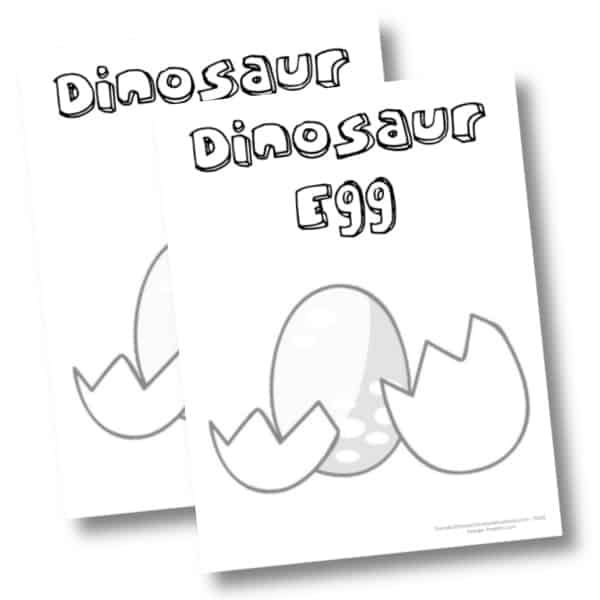 Dinosaur Egg printable coloring page