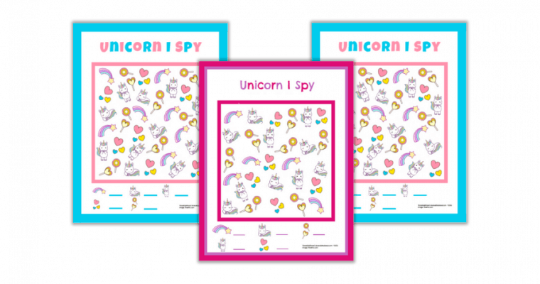 Free Printable I Spy Unicorn Worksheets