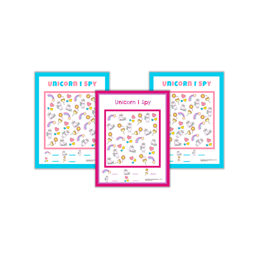 Free Printable I Spy Unicorn Worksheets