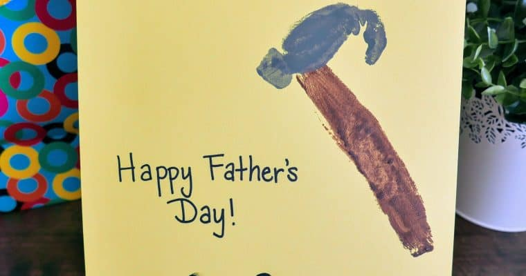 Easy Father's Day Fingerprint Craft Card
