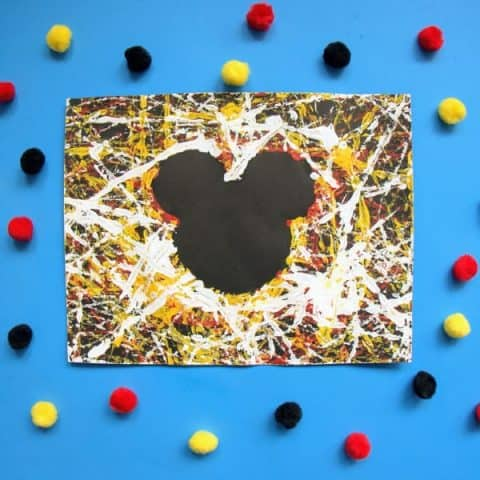 Mickey Mouse marble painting
