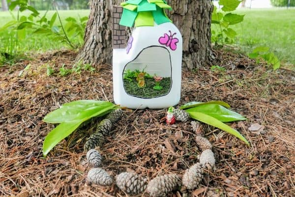 How to Make a Fairy House (a Milk Jug Craft)