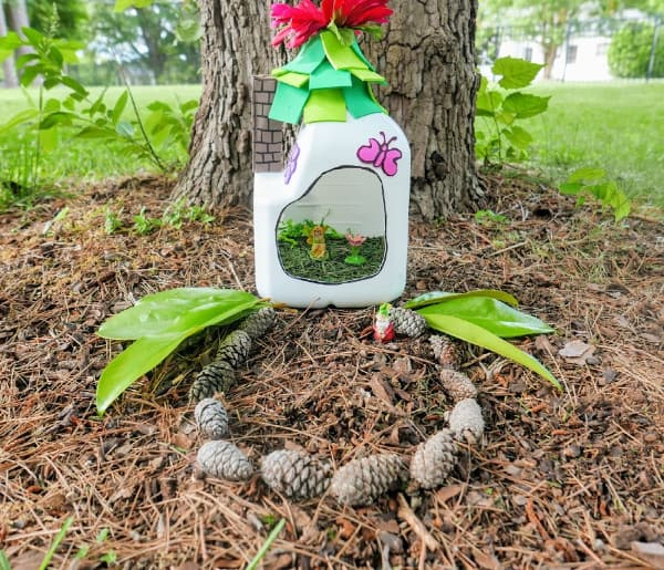 How to Make a Fairy House (a Milk Jug Craft)