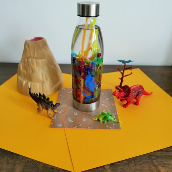 How to Make a Glow in the Dark Dinosaur Sensory Bottle