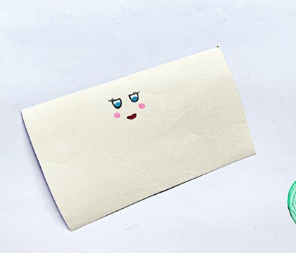 Mermaid face on paper