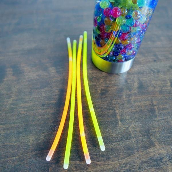 Glowing glow sticks