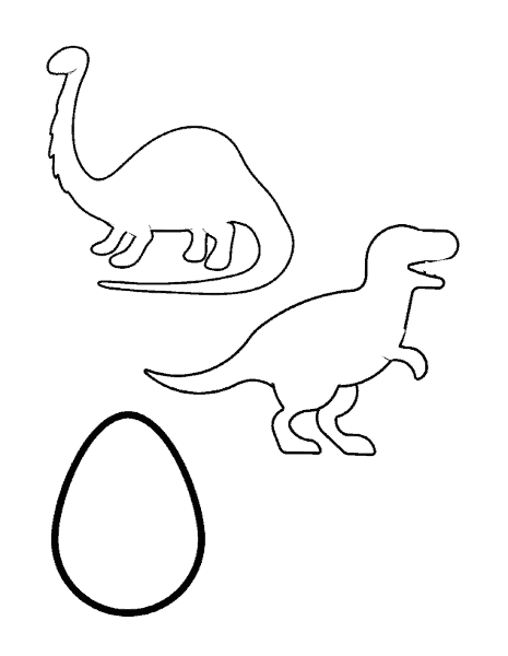 Image of dinosaur and egg template