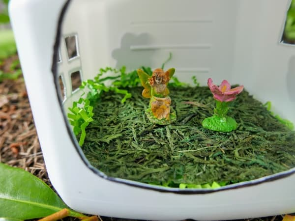 Inside of finished fairy house