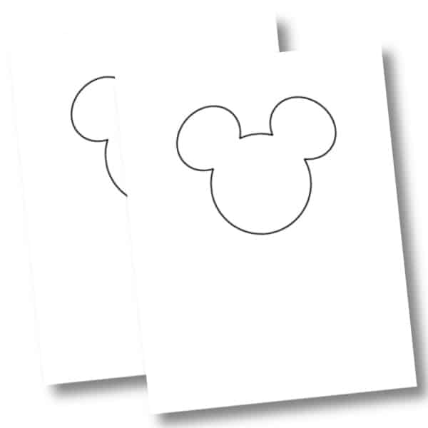 Mickey Mouse template mockup