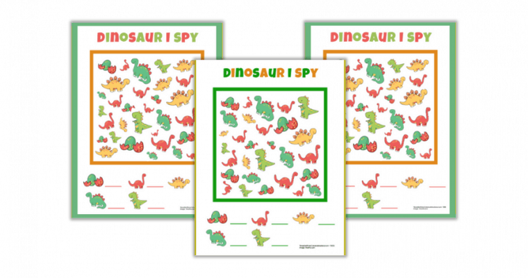 Free Printable Dinosaur I Spy Worksheets