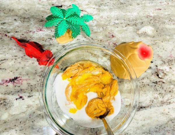 Stir together cookie ingredients