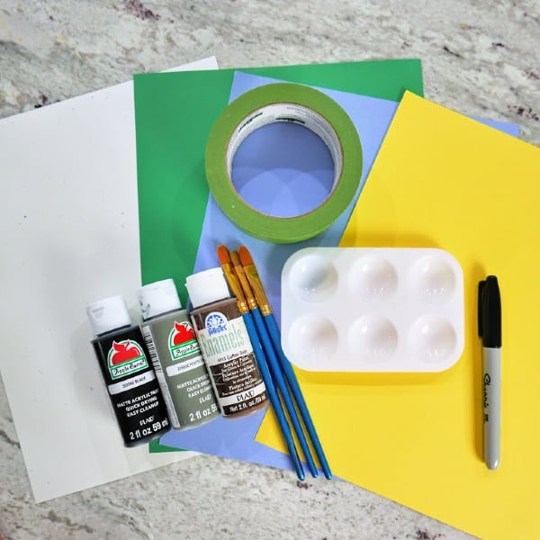 Supplies for Fathers Day Craft