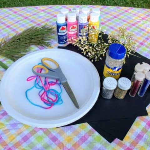 Supplies for Nature Fireworks painting