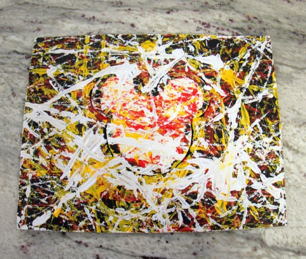 Take marble painting out of box