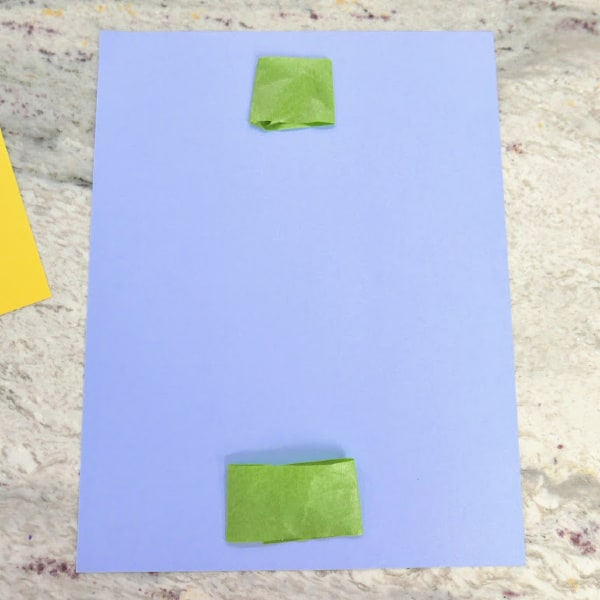 Tape on top and bottom of cardstock
