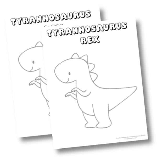 Tryannasaurus coloring page