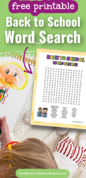 Back to school word search pin