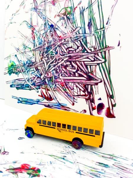 School Bus art project for preschoolers