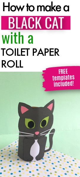 Cat toilet paper roll craft pin