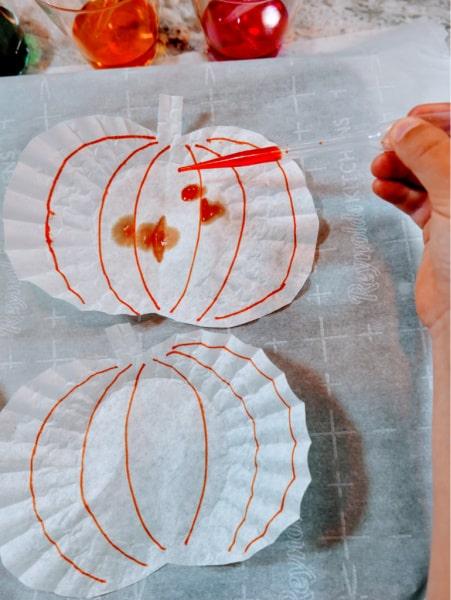 Food coloring on pumpkin 2