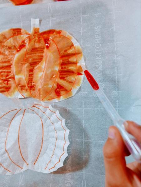 Food coloring on pumpkin 6