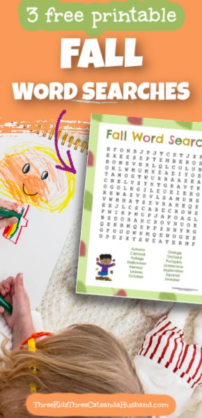 Fall Word Search Pin