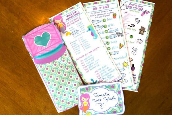 Printable Slumber Party Activities (Mermaid Style!)