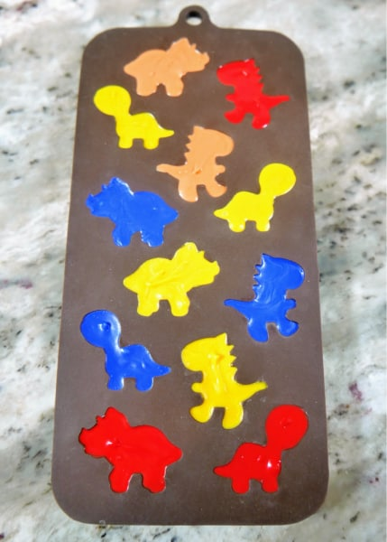Full mold of dinosaur candy