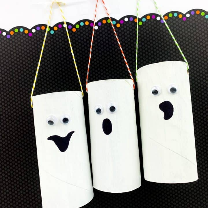 Ghost toilet paper roll craft