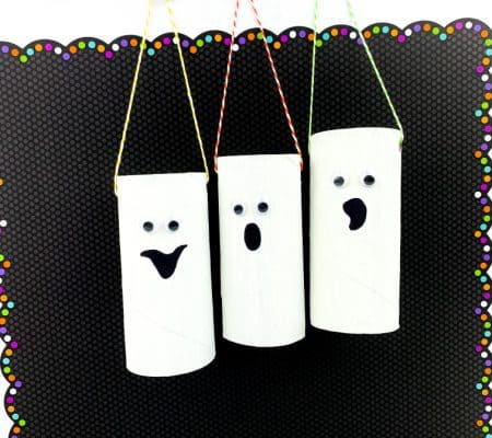 Toilet Paper Roll Ghost (A Halloween Craft for Preschoolers)